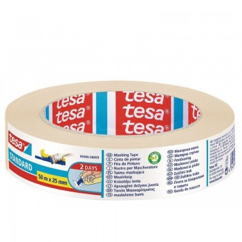 Paper tape for general use 50m x 25mm Tesa Standard 05086